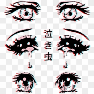 Anime Eyes Manga Hentai Heart Black White Anime Glaza Cartoon Hd Png Download 1024x1024 551021 Pinpng