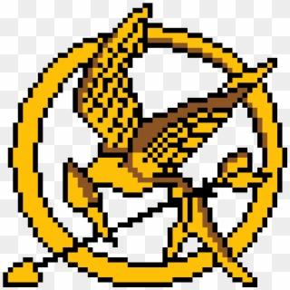 The Hunger Games Logo - Minecraft Circle Pixel Art, HD Png