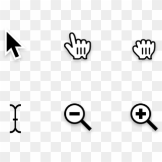 Transparent Png Mac Cursors - Black-and-white, Png Download