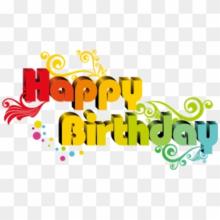 Free Happy Birthday Text PNG Images | Happy Birthday Text