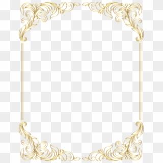 Free Golden Border Designs PNG Images | Golden Border