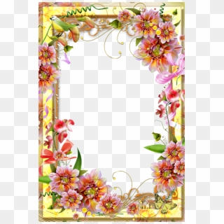 Go To Image - Flower Page Border Design, HD Png Download